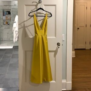 BHLDN Chartreuse Gown